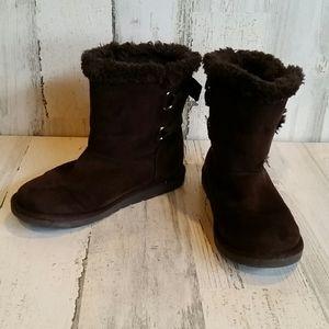Airwalk Brown Girls Boots Size 1